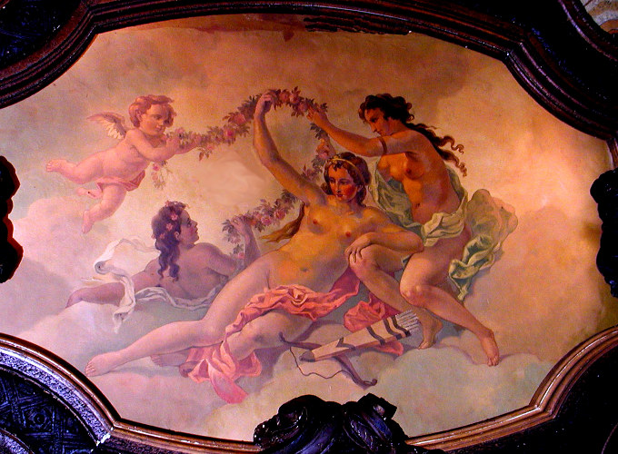 Ceiling Mural at the Balcony
