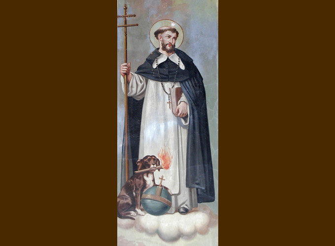 St Dominic and Dog